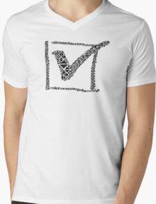 checked, done, ok, fine Mens V-Neck T-Shirt