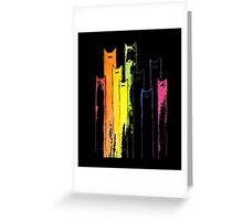 Rainbow of Cats Whimsical Animals Watercolor T-shirt Greeting Card