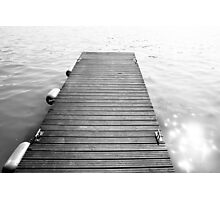 Black and White Dock Photographic Print
