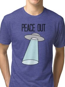 Peace Out, Earth Tri-blend T-Shirt