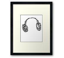 Phone, earphone, music Framed Print