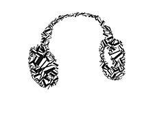 Phone, earphone, music Photographic Print