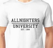 ALLNIGHTERS UNIVERSITY BLACK Unisex T-Shirt