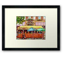 ST.VIAREUR BAGEL CAFE MONTREAL Framed Print