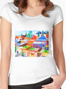 Hawthorn rooftops Women's Fitted Scoop T-Shirt