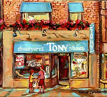 CHAUSSURES TONY'S SHOES MONTREAL STORES by Carole  Spandau
