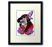 The Black Widow skulled Framed Print