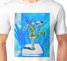 Still Life Vase with assorted flowers Unisex T-Shirt