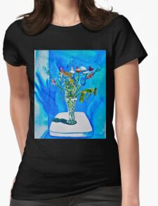 Still Life Vase with assorted flowers Womens Fitted T-Shirt