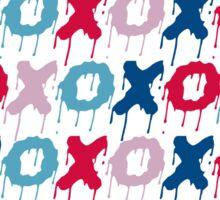 x o pattern  Sticker