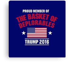 the basket of deplorables Canvas Print