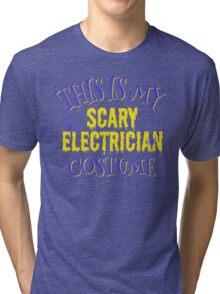 scary Electrician Costume Tri-blend T-Shirt
