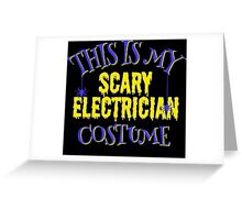 scary Electrician Costume Greeting Card