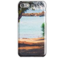 Trees and boats iPhone Case/Skin