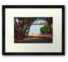 Trees and boats Framed Print