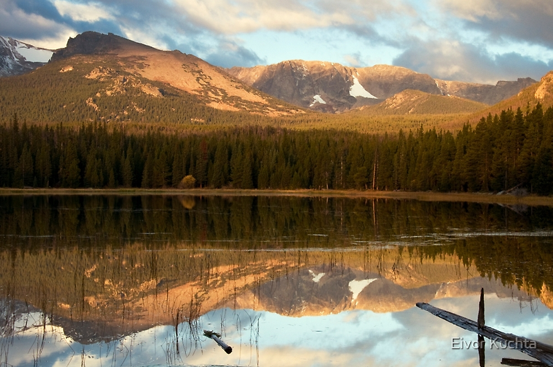 Reflection at Bierstadt Lake by Eivor Kuchta