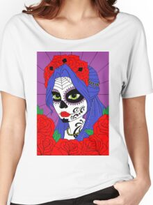 sugar skull sister number 1 Women's Relaxed Fit T-Shirt
