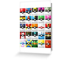Pokeball collection Greeting Card