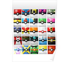 Pokeball collection Poster