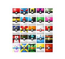 Pokeball collection Photographic Print