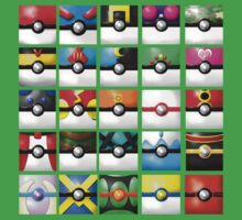 Pokeball collection Kids Clothes