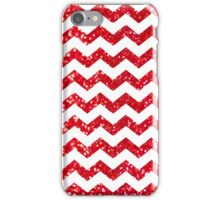 Candy Cane Glitter Chevron Pattern iPhone Case/Skin
