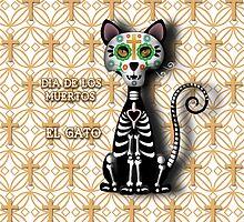 Dia de los Muertos - El Gato by Carol Vega