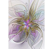 Floral abstract and colorful Fractal Art Photographic Print