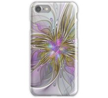Floral abstract and colorful Fractal Art iPhone Case/Skin