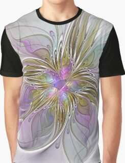Floral abstract and colorful Fractal Art Graphic T-Shirt