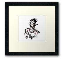 Blazin Jordan Framed Print