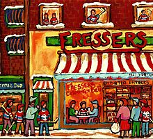 FRESSER'S DELICARESSEN AND HOCKEY MONTREAL by Carole  Spandau