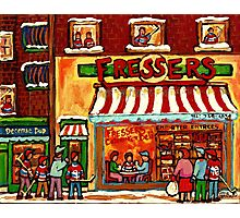 FRESSER'S DELICARESSEN AND HOCKEY MONTREAL Photographic Print