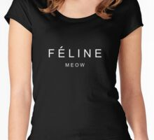 Feline Meow Cats Women's Fitted Scoop T-Shirt