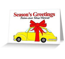 Season's Greetings from New Home Greeting Card