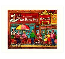 VAN HORNE BAGEL AND YANGZTE RESTAURANT MONTREAL Art Print
