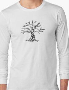 abstract black tree Long Sleeve T-Shirt