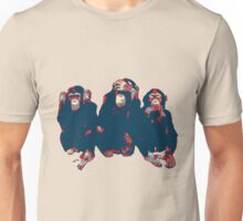 3 wise monkeys hope art Unisex T-Shirt