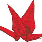 Red Origami Bird by EkaterinaP