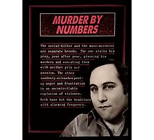 MURDER BY NUMBERS. Photographic Print