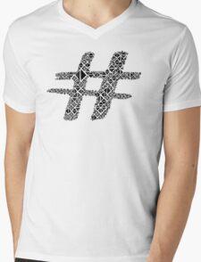 hashtag, sign, black, abstract Mens V-Neck T-Shirt