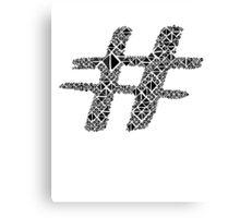 hashtag, sign, black, abstract Canvas Print