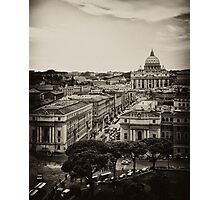 Overlooking Rome Photographic Print