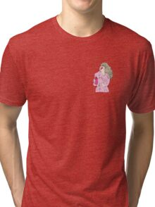 Woman in pink coat Tri-blend T-Shirt