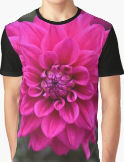 Hot Pink Dahlia Graphic T-Shirt