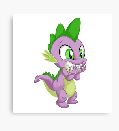 Giggling Spike Canvas Print