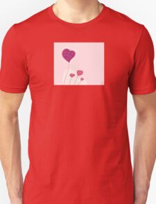 Abstract heart texture. Retro background design with copyspace Unisex T-Shirt