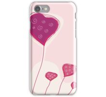 Abstract heart texture. Retro background design with copyspace iPhone Case/Skin