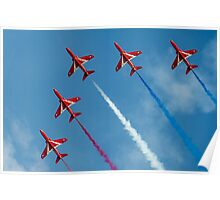 Red Arrows five ship Poster
