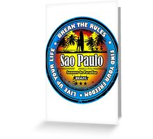 Sao Paulo Brazil Greeting Card